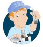 Водитель такси иллюстрация штока