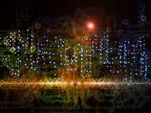 Схематические передачи данных Стоковое Фото