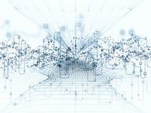 Схематические передачи данных Стоковое Изображение RF