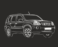 Схематический автомобиль Стоковая Фотография