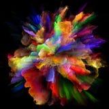Схематический взрыв выплеска цвета бесплатная иллюстрация