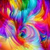 Схематический жидкостный цвет Стоковое Изображение