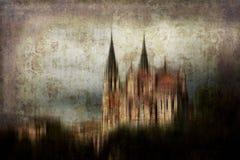 Схематический замок стоковое изображение