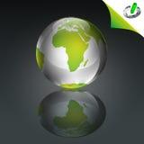 схематический зеленый цвет глобуса Иллюстрация вектора