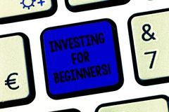 Схематический инвестировать показа сочинительства руки для новичков Издержки текста фото дела денег обычно для дохода или стоковое изображение