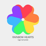 Схематический одиночный логотип с сердцем формирует Стоковая Фотография
