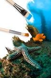 схематический пейзаж подводный Стоковые Изображения