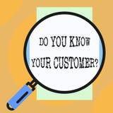Схематический показ сочинительства руки вы знаете ваш вопрос о клиента Обслуживание фото дела showcasing определить клиентов иллюстрация штока
