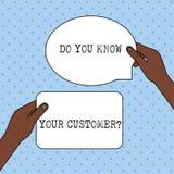 Схематический показ сочинительства руки вы знаете ваш вопрос о клиента Обслуживание текста фото дела определить клиентов с иллюстрация штока