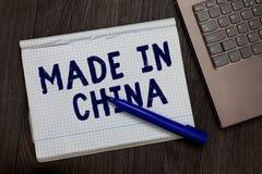 Схематический показ сочинительства руки сделанный в Китае Коммерция рынка оптовой индустрии текста фото дела глобальная торговая  стоковое фото