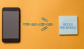 Схематический процесс Perforanalysisce показа сочинительства руки Измерения текста фото дела обрабатывают эффектно встречают стоковые фотографии rf
