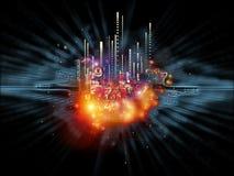 Схематический численный взрыв Стоковое Изображение RF