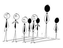 Схематический шарж вклада индивидуальности бизнесмена Стоковое Фото