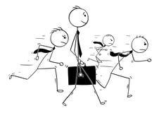 Схематический шарж индивидуальности бизнесмена стоя из Стоковое Фото