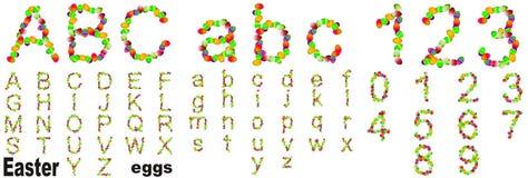 Схематический шрифт пасхальных яя Стоковое Изображение RF