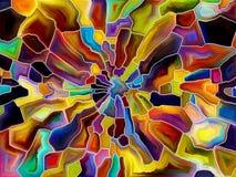 Схематическое вращение взрыва Стоковые Фото