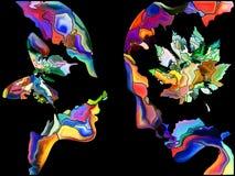 Схематическое вращение взрыва Стоковая Фотография
