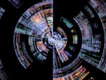 Схематическое вращение взрыва Стоковое Изображение RF