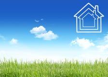 схематическое изображение дома новое Стоковое Изображение