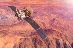 Схематическое изображение корабля исследуя Марс бесплатная иллюстрация