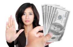 Схематическое изображение руки дает деньги для коррупции Стоковые Фотографии RF