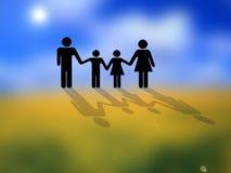 схематическое изображение семьи Стоковое Фото