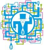 схематическое изображение сохраняет воду Стоковые Фото