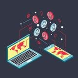 Схематическое изображение с социальными сетями плоско Стоковое фото RF