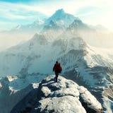 Схематическое изображение hiker человека стоковое фото