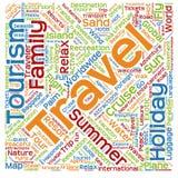 Схематическое облако слова туризма Стоковое Изображение