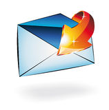 схематическое полученное illusrtation электронной почты Стоковые Изображения RF
