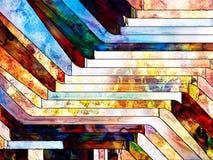 Схематическое разделение формы Стоковые Изображения