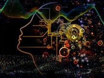Схематическое сознавание машины Стоковое Изображение