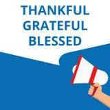 Схематическое сочинительство показывая благодарное благословленное признательное иллюстрация вектора