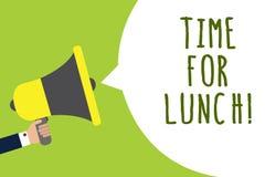 Схематическое сочинительство руки показывая время для обеда Момент фото дела showcasing для того чтобы иметь перерыв на обед от р бесплатная иллюстрация
