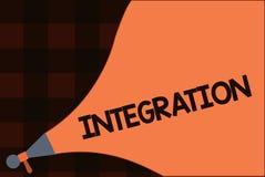Схематическое сочинительство руки показывая интеграцию Действие текста фото дела или находить процесса интегрируя интеграла бесплатная иллюстрация