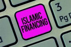 Схематическое сочинительство руки показывая исламское финансирование Деятельность при и вклад банка фото дела showcasing то стоковая фотография rf