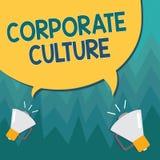 Схематическое сочинительство руки показывая корпоративную культуру Верования и идеи фото дела showcasing которые компания делила иллюстрация вектора