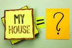Схематическое сочинительство руки показывая мой дом Имущество домочадца семьи свойства снабжения жилищем фото дела showcasing дом Стоковые Фото
