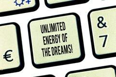 Схематическое сочинительство руки показывая неограниченную энергию мечт Текст фото дела оптимистический надеющийся для того чтобы бесплатная иллюстрация
