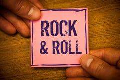 Схематическое сочинительство руки показывая рок-н-ролл Фото дела отправляют СМС музыкальный тип жанра удара SoundMan популярной т Стоковые Фотографии RF