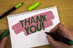 Схематическое сочинительство руки показывая спасибо мотивационный звонок Wr признательности подтверждения приветствию благодарнос стоковое изображение rf