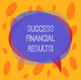 Схематическое сочинительство руки показывая финансовые результаты успеха Количество текста фото дела выгоды компания делает во вр иллюстрация штока