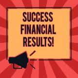 Схематическое сочинительство руки показывая финансовые результаты успеха Количество текста фото дела выгоды компания делает во вр бесплатная иллюстрация