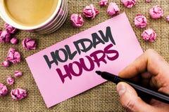 Схематическое сочинительство руки показывая часы праздника Wri отверстия сезонных полуночных продаж времени торжества текста фото Стоковое Фото
