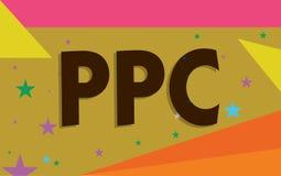 Схематическое сочинительство руки показывая Ppc Рекламодателя текста фото дела оплачивают гонорар каждый раз одно из их объявлени бесплатная иллюстрация