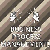 Схематическое управление бизнес-процесса показа сочинительства руки Дисциплина текста фото дела улучшать бизнес-процесс Hu иллюстрация вектора