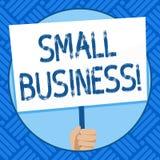 Знак текста показывая мелкий бизнес Схематическое фото независимо имело и приводилось в действие компанию ограничиваемую в удержи иллюстрация вектора