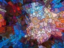 Схематическое цветное стекло Стоковое фото RF