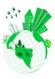 схематическое экологическое Стоковые Изображения